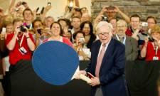Warren Buffett a joué une partie de ping-pong...