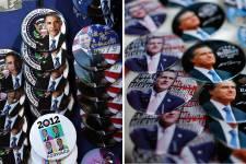 Le premier face à face entre MM. Obama... (Photo AFP)