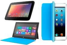La tablette numérique Nexus de Google (en haut...