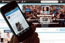 Barack Obama a annoncé sa victoire sur Facebook et Twitter mardi soir, au...
