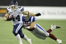 Les Argonauts de Toronto ont remporté la finale de l'Est face aux Alouettes de Montréal, dimanche.