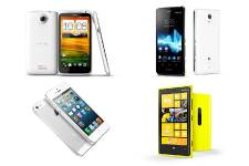 HTC One X, Sony Xperia T, Apple iPhone...