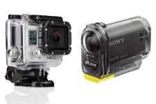 La caméra GoPro Hero 3 et la Sony...