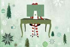 C'est connu, le père Noël porte une longue barbe blanche, s'habille en rouge et... (ILLUSTRATION VERONICA PÉREZ-TEJEDA, LA PRESSE)