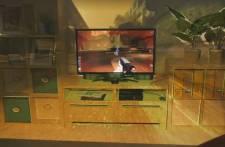 En s'appuyant sur un capteur Xbox Kinect et un projecteur, IllumiRoom élargit...