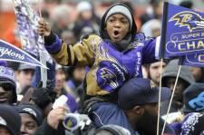 Le 5 février, les partisans des Ravens de Baltimore ont envahi les rues de la ville pour acclamer Ray Lewis, Joe Flacco et toute l'équipe lors du défilé du Super Bowl. Les Ravens l'avaient emporté 34-31 contre les 49ers de San Francisco, dimanche.