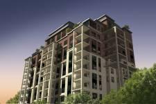 Nom du projet: le St-Vincent Où: Boulevard Lévesque Est, à l'est du pont Pie-IX, à Laval. En tout: 49 appartements en copropriété dans un immeuble de 7 étages, du côté du boulevard Lévesque Est, et de 9 étages coiffés demezzanines, face à la rivière des Prairies. Tous les appartements auront un balcon orienté vers le cours d'eau.