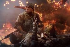 Elle montre une escouade de quatre soldats américains qui se retrouve derrière...