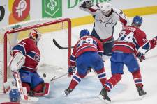 Le Canadien a reçu les Capitals de Washington au Centre Bell, mardi 9 avril.