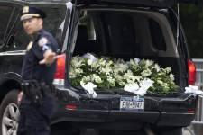 Quelques images des funérailles de l'acteur James Gandolfini célébrées à New York le 27 juin 2013.