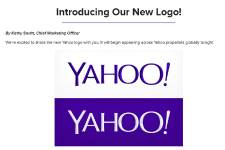 Le nouveau logo de Yahoo!... (Photo AFP)