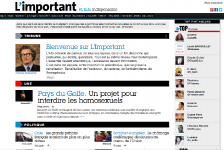 Le site limportant.fr, réalisé exclusivement à partir de...