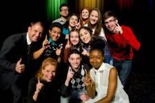 Huit élèves de la commission scolaire Marguerite-Bourgeoys ont donné un spectacle réalisé en partenariat avec l'École nationale de l'humour.