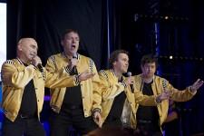 Le groupe Rock et belles oreilles était de retour pour un spectacle d'un soir à la Place des Festivals le mercredi 23 juillet 2014.