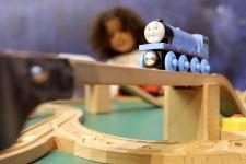 Thomas le train est arrivé au Musée canadien des enfants.