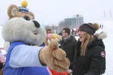 La ministre Mélanie Joly était au Domaine des flocons pour inaugurer les festivités.