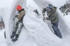 L'équipe de Saguenay en neige n'aurait pu rêver mieux. Si l'hiver est marqué par les nombreux redoux, dame Nature semble faire une trêve pour offrir des conditions idéales aux organisateurs et visiteurs en ce début de festival, samedi.