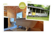 <strong>L'artiste de Québec Jean Gaudreau a transformé un shack de Beauport en un chouette petit chalet.</strong>