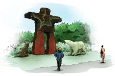 Entre 35 et 40 oeuvres, dont certaines seront gigantesques, seront présentées dans un circuit aménagé de près d'un kilomètre dans le parc Jacques-Cartier.