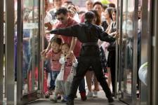 Jour d'inaugurationau parc d'attractions Wanda, en Chine, qui veut concurrencer le géant Disney