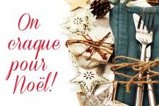 Photos d'articles de Noël pour la table, de fabrication artisanale.