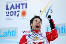 Le Québécois Alex Harvey a été couronné champion du monde au 50km style libre, le 5mars à Lahti, en Finlande.