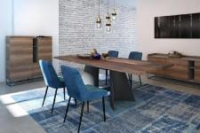 Le mobilier se raffine. Dossiers moins hauts, pattes plus fines et insertions métalliques sont quelques-uns des éléments qui contribueront à rendre les meubles un peu plus chics en 2018.