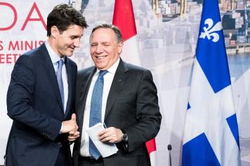 Troisième rencontre Trudeau-Legault en quatre mois
