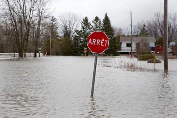 L'eau gagne du terrain à Rigaud