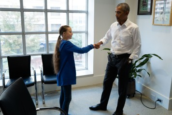 Greta Thunberg rencontre Barack Obama