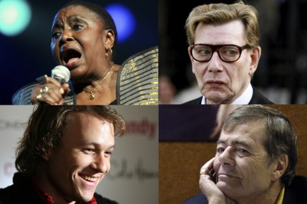 Miriam Makeba, Yves Saint-Laurent, Heath Ledger et Michel... (Photos: AP, Reuters et Archives La Presse)