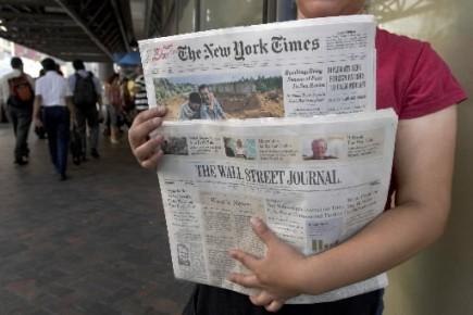 Le New York Times a réduit sa perte nette au deuxième trimestre et a... (Photo: Bloomberg)