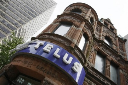 Un point de vente de Telus au centre-ville... (Photo: Reuters)