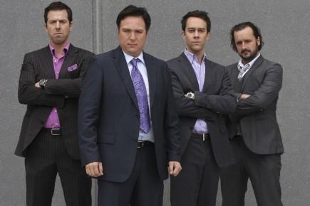 Les quatre acteurs principaux de la série Les... (Photo: Radio-Canada)