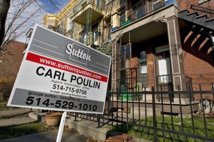 Après la frénésie des dernières années, la situation de l'immobilier au pays... (Photo: Patrick Sanfaçon, Archives La Presse)