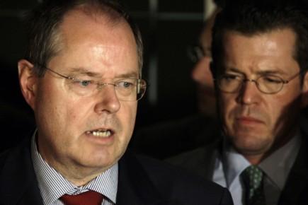 Le ministre des Finances de l'Allemagne, Peer Steinbrück,... ( - 75052-ministre-finances-allemagne-peer-steinbruck