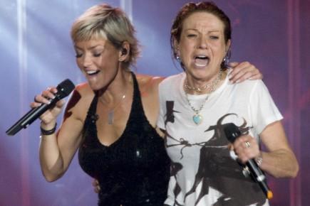 Après avoir chanté en duo Pas facile avec (Photo: André Pichette