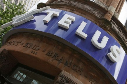 Telus, un des trois plus importants acteurs du... (Photo: Archives Reuters)