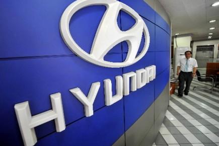 La marque automobile coréenne Hyundai veut dépasser les 500 000 ventes  en... (Photo: AFP)