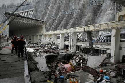 centrale hydro lectrique en sib rie 69 morts six disparus europe. Black Bedroom Furniture Sets. Home Design Ideas