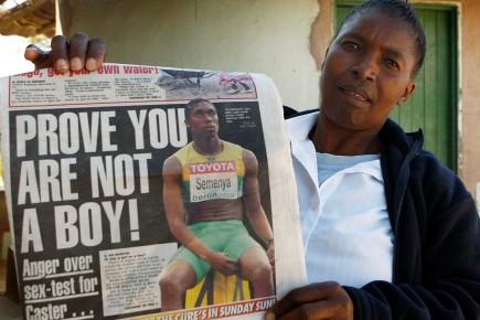 Dorcas Semenya, la mère de la championne Caster... (Photo: Reuters)