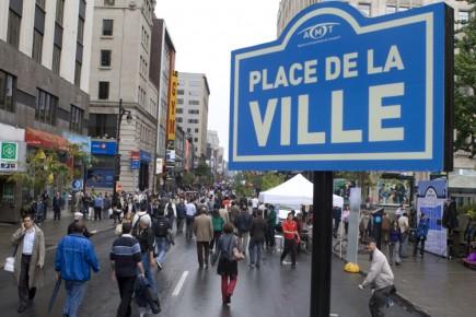 La rue Sainte-Catherine entre McGill College et Saint-Urbain... (Photo: Robert Skinner, La Presse)