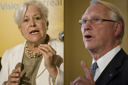Louise Harel et Gérald Tremblay se sont affrontés... (Photos: David Boily, La Presse)
