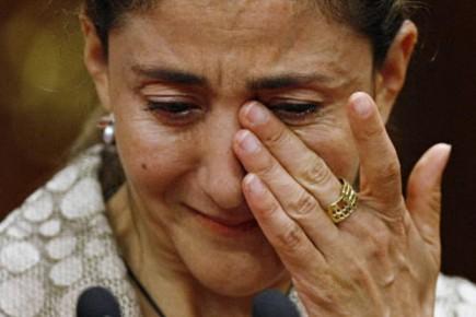 Ingrid Betancourt a été submergée par l'émotion à... (Photo: Reuters)