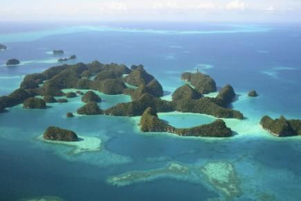 Des îles de l'archipel de Palau, dans le... (Photo Reuters)