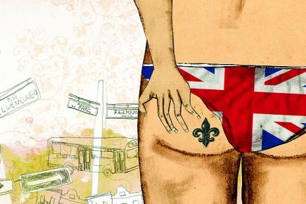 Je vis dans un quartier branché, habité par des redingotes hassidiques, des... (Illustration: Josée Bisaillon, Urbania)