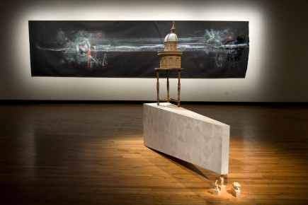 Josée Landry-Sirois frappe par dessin horizontal très long,... (Photo Robert Skinner, La Presse)