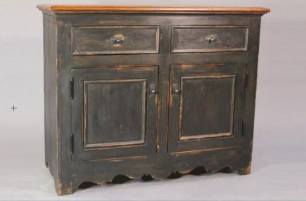Meuble en pin non meuble peint ric th riault et for Peinture speciale meuble