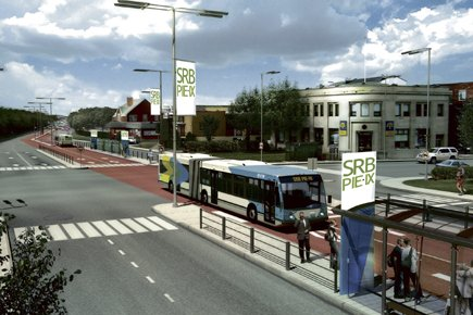 Le futur Service rapide par bus (SRB) sur... (Illustration fournie par le MTQ)