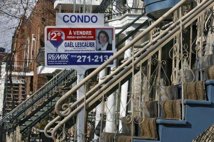 La revente de condos a beau avoir fléchi de 20% en novembre à Montréal, la... (Photo Patrick Sanfaçon, archives La Presse)